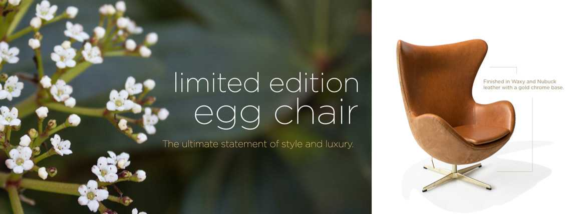Limited Edition Egg Chair by Rove Concepts