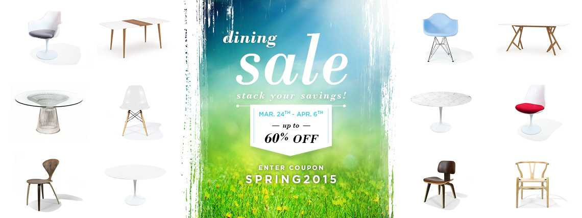 Rove Spring Dining Sale