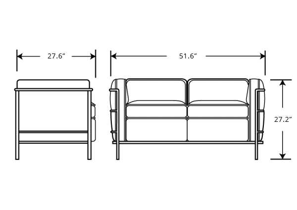 Loveseat Dimensions Typic Batar