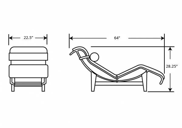 typical chaise lounge dimensions crafts