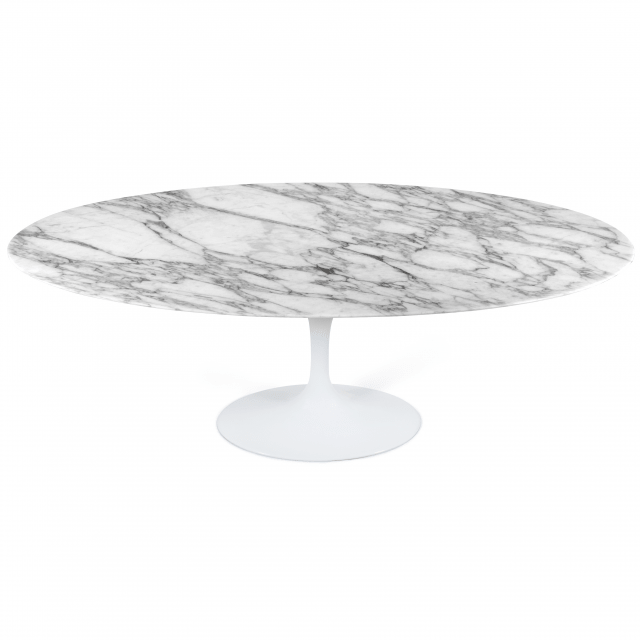Saarinen Oval Tulip Table - Calacatta Marble