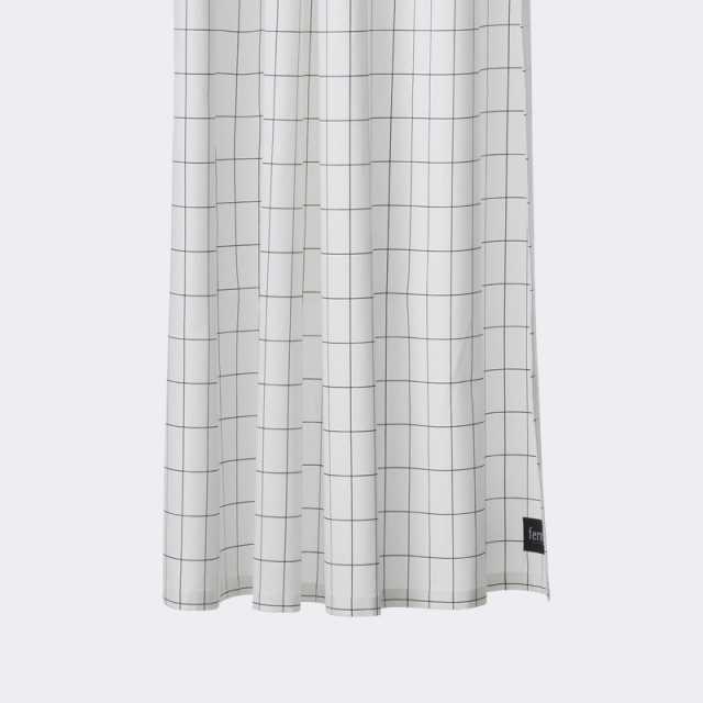 Grid Shower Curtain - Black
