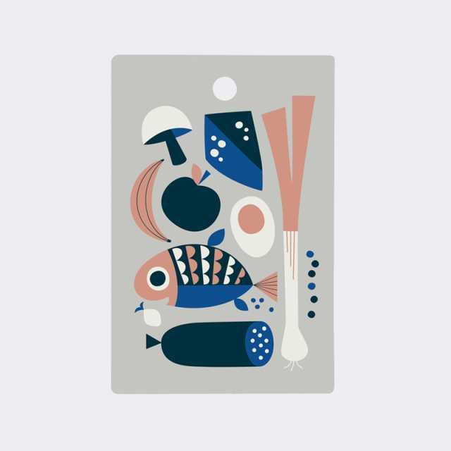 Grocery Cutting Board - Grey