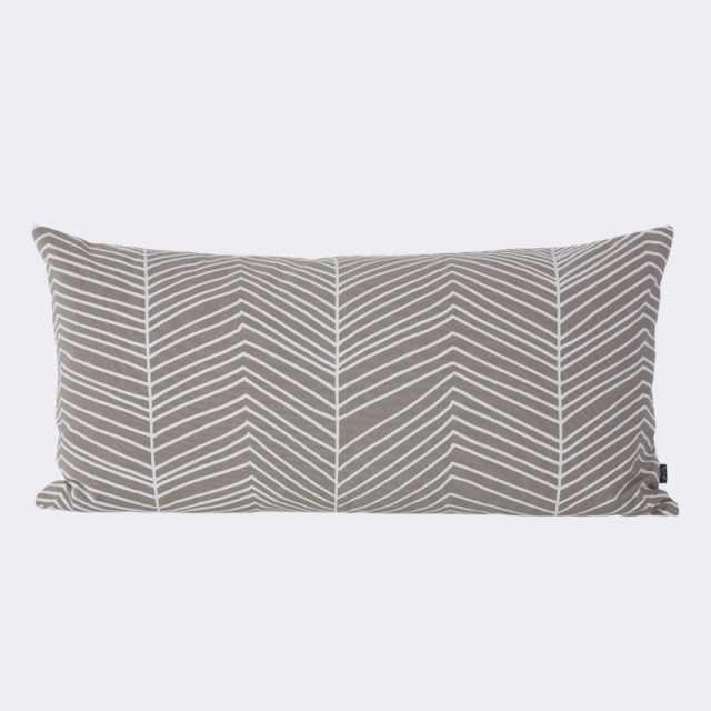 Herringbone Cushion - Grey