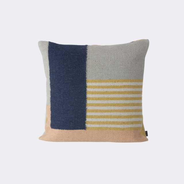 Kelim Cushion - White Lines