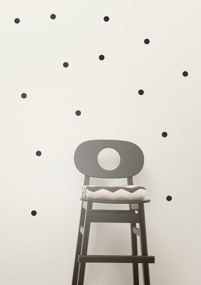 Mini Dots Kids Wall Sticker - Black