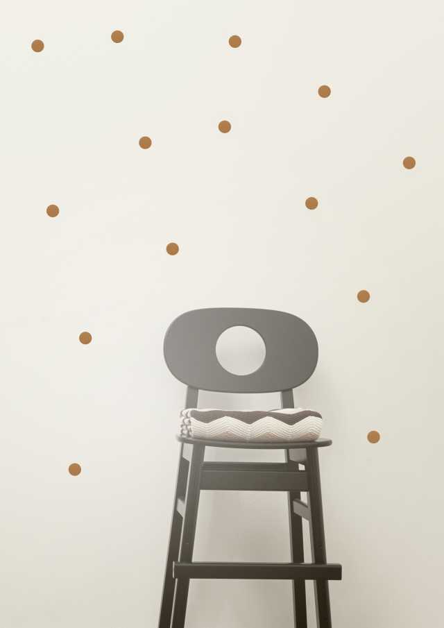 Mini Dots Kids Wall Sticker - Copper