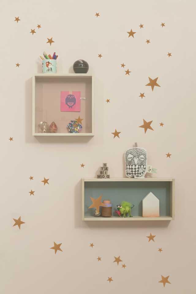 Mini Stars Kids Wall Sticker - Copper