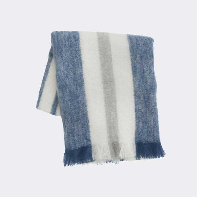 Mohair Throw -  Blue