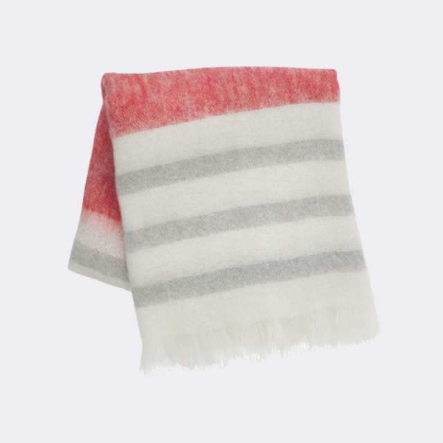 Mohair Throw - Red