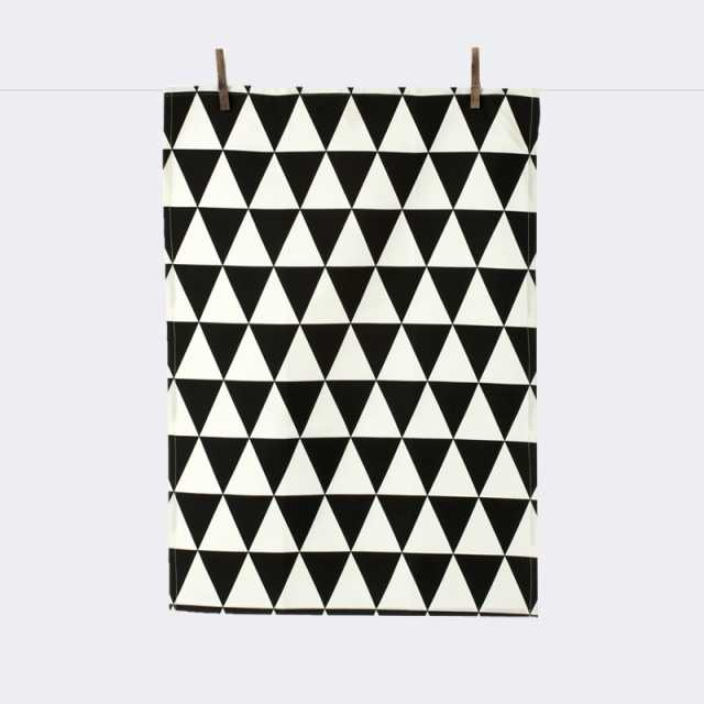Triangle Tea Towel - Black
