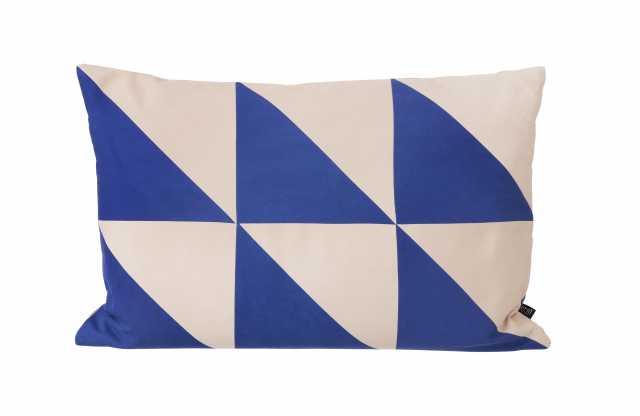 Twin Triangle Cushion - Blue