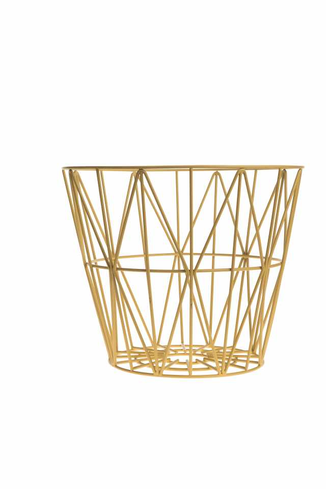Wire Basket Small - Yellow
