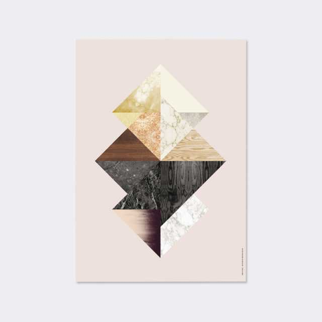 Wooden Illustrations: Triangle Fusion